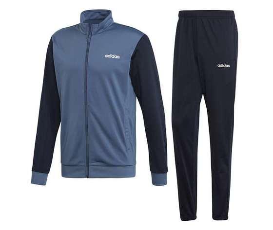 Ei5559 adidas tuta grigio blu