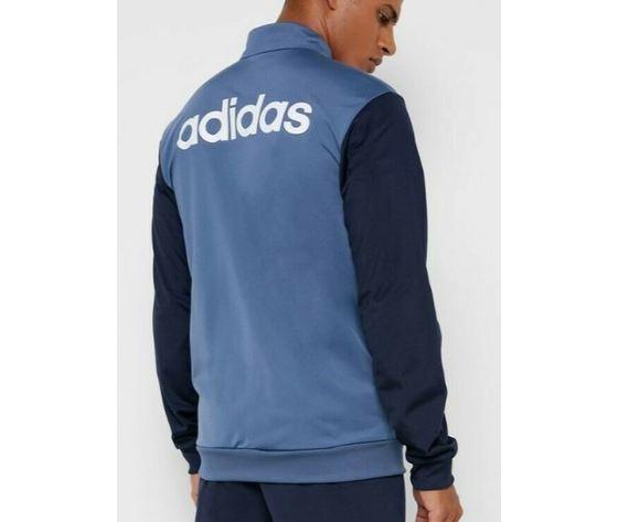 Ei5559 adidas tuta grigio blu 3