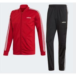 Tuta Adidas rosso nero 3 Stripes abbigliamento uomo art. FH6637