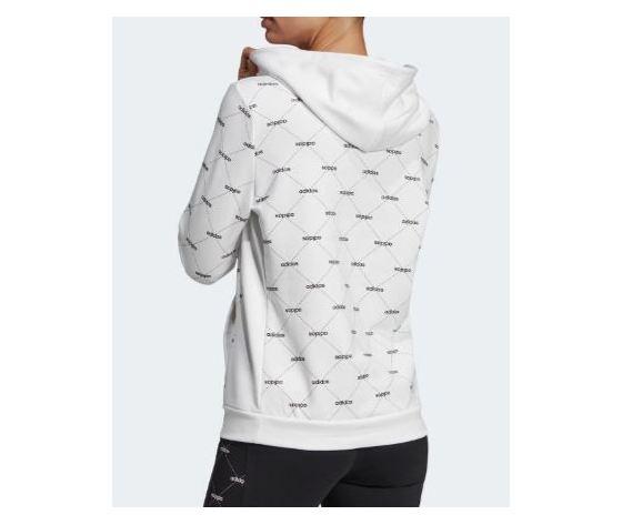 Ei6248 felpa adidas core linear bianca rombi donna 5