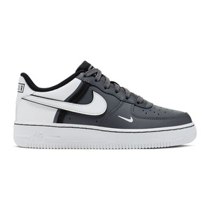 Nike Air Force 1 grigio bianco nero sneakers ragazzo art. CI1756 002