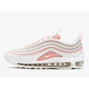 Scarpa Nike Air Max 97 donna bianco rosa tempo libero art. 921733 104