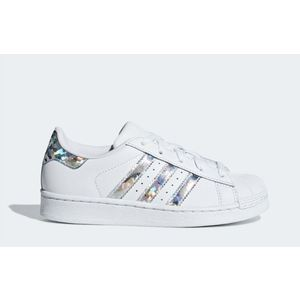 Scarpe Adidas Superstar C bianco argento bambina art. CG6708