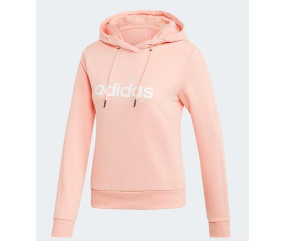 Ei4636 felpa adidas rosa cappuccio