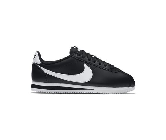 Nike donna classic cortez leather nero bianco