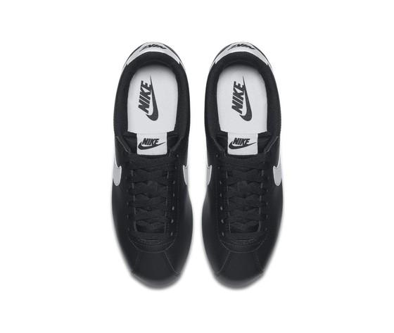 Nike donna classic cortez leather nero bianco %283%29
