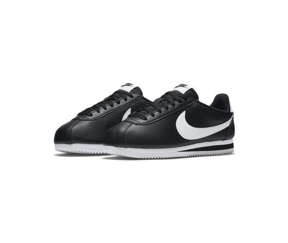 Nike donna classic cortez leather nero bianco %282%29
