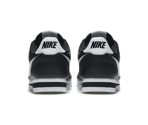Nike donna classic cortez leather nero bianco %281%29