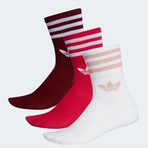 Calze Adidas Mid Cut bianco rosso bordeaux art. ED9396