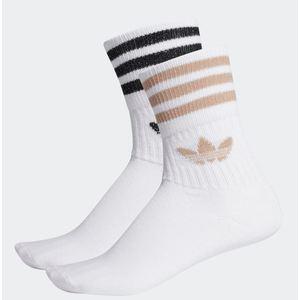 Calze Adidas Mid Cut glitter donna bianco beige nero art. ED5907