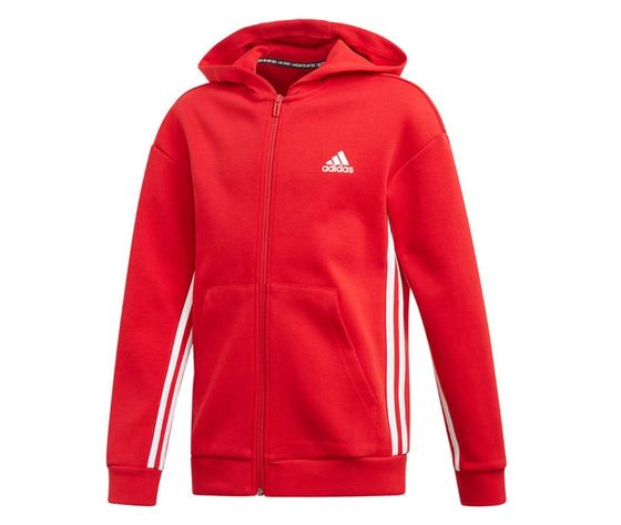 Ed6485 giacca adidas rossa must have 3 stripes 2