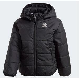 Bomber Adidas nero bambini full zip e cappuccio art. ED7735