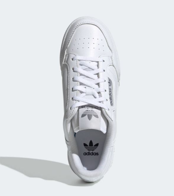 Scarpe Adidas Continental 80 J bambini bianco con penne colorate sneakers bimbo pennarelli art. EE8383
