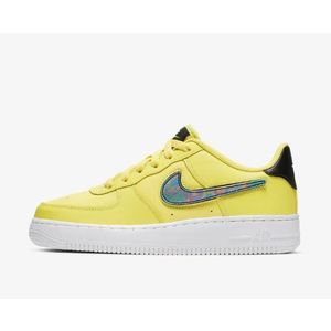 Scarpa Nike Air Force 1 Lv8 giallo ragazzi logo patch art. AR7446 700