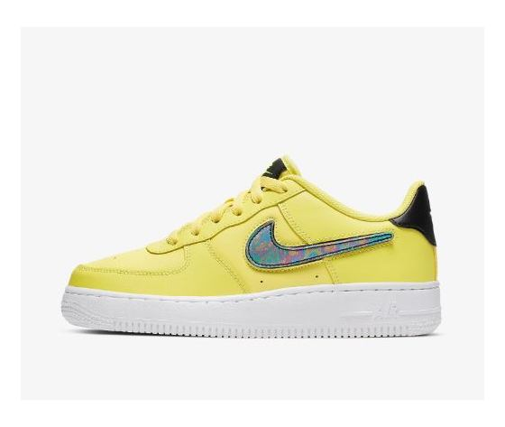 Ar7446 700 nike air force 1 gs giallo patch logo