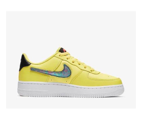 Ar7446 700 nike air force 1 gs giallo patch logo 3