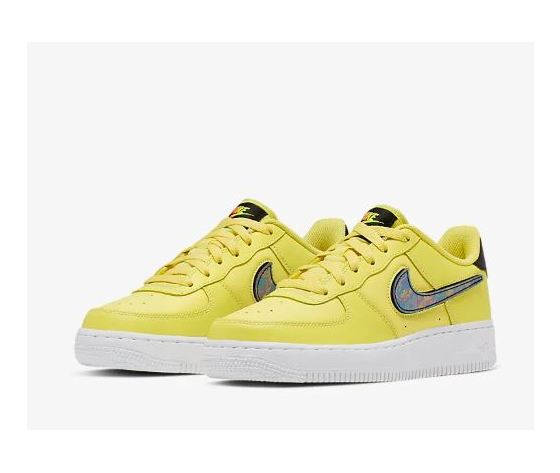 Ar7446 700 nike air force 1 gs giallo patch logo 5