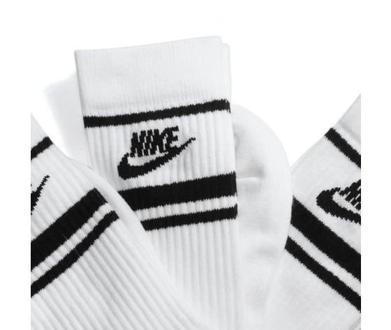 Cq0301 103 nike calza bianco logo nero 3