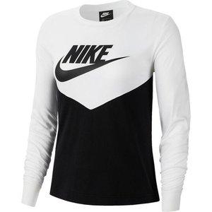Maglia sportiva Nike manica lunga bianco nero donna art. BV5007 010
