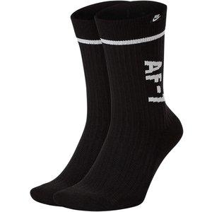 Calze Nike nero Sneaker Sox AF-1 2 paia art. SK0136 010