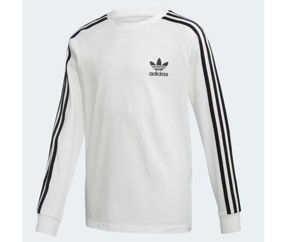 Dw9298 adidas maglia ragazzi bianca 3 stripes