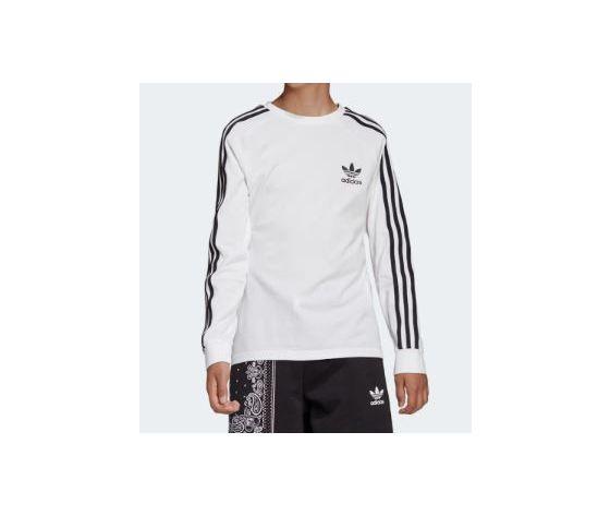 Dw9298 adidas maglia ragazzi bianca 3 stripes 3