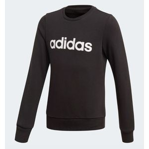 Felpa Adidas nero Linear bambino logo bianco art. EH6157