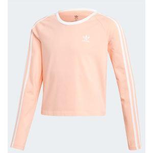 Maglia Adidas rosa cropped 3 stripes bambino art. ED7792