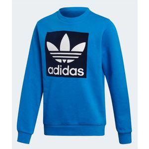 Felpa Adidas blu logo trifoglio bianco bambino art. ED7817
