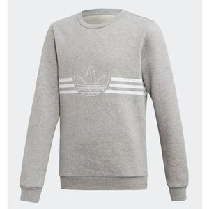 Felpa Adidas grigio Outline Crew bambino ragazzo art. ED7856
