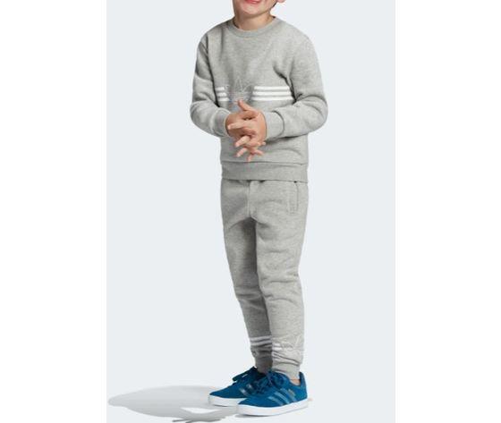 Ed7767 adidas completo tuta grigio bambini 6