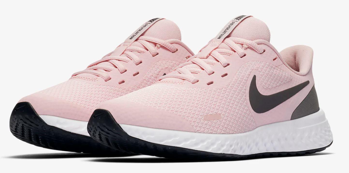 Nike Revolution 5 rosa nero running ragazze scarpe sportive art. BQ5671 601