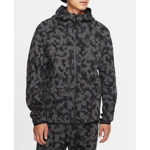 Felpa Nike con cappuccio mimetica full zip uomo art. CJ5975 010