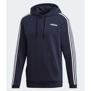 Felpa Adidas blu cappuccio 3 Stripes Essentials uomo art. DU0499