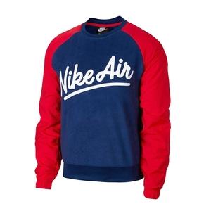 Felpa Nike Air rosso blu sportswears crew mix art. BV5187 492