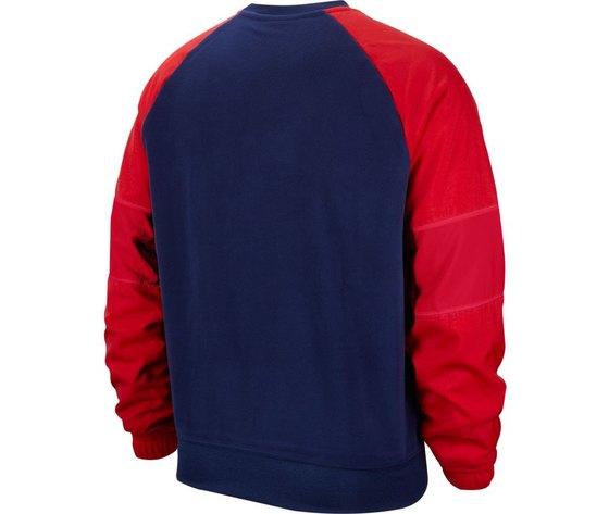 Bv5187 felpa nike air rosso blu1