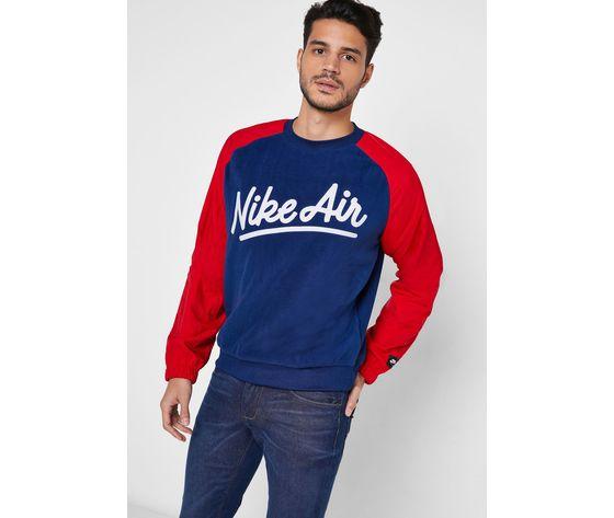 Bv5187 felpa nike air rosso blu2