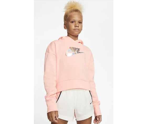 felpa nike donna corta rosa