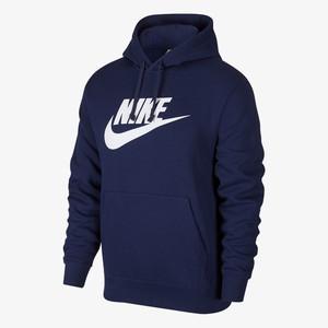 Felpa Nike Blu cappuccio Club art.BV2973 410