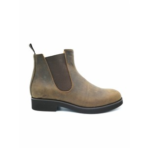 Stivaletto slip on pelle ingrassata marrone art.99342M