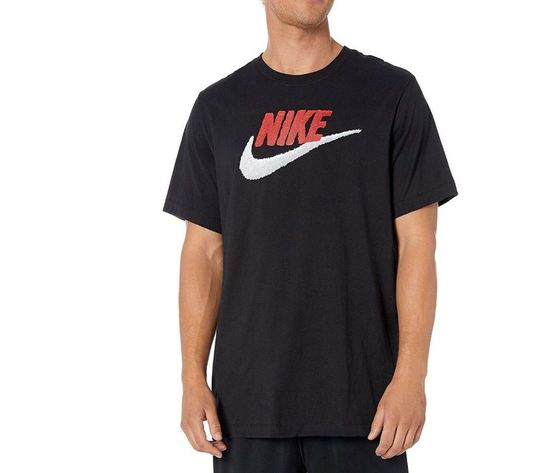 Ar4993 t shirt nike nero bicolore2