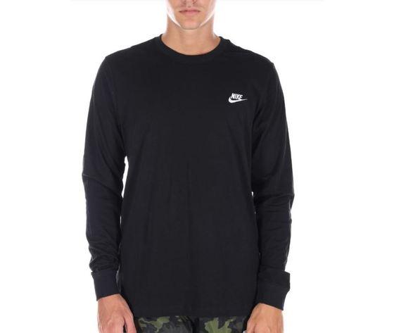 Ar5193 010 maglietta nike maniche lunghe nera