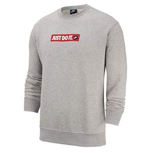Felpa Nike Just Do It grigio girocollo Crew Fleece uomo art.BV5089 050