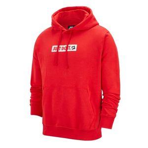 Felpa Nike con cappuccio rosso Just Do It JDI hoodie uomo art.BV5094 657