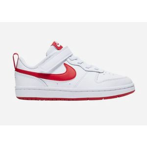 Nike Court Borough Low 2 strappo bianca rossa bambini art.BQ5451 103