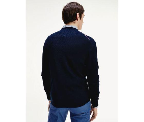 Maglione tommy hilfiger zig zag ricamato blu art.mw0mw13122 cw5 3