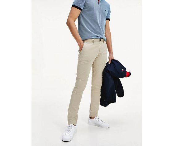 Pantalone Tommy Hilfiger Bleeker Flex Satin Chinos stone beige art.MW0MW13287 AEP