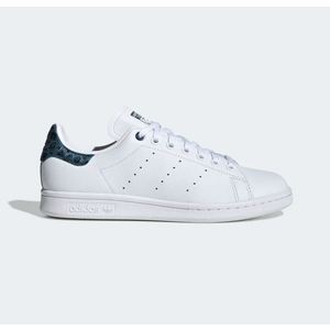 Scarpe Adidas Stan Smith bianco tallone maculato blu mare donna art.EE4895