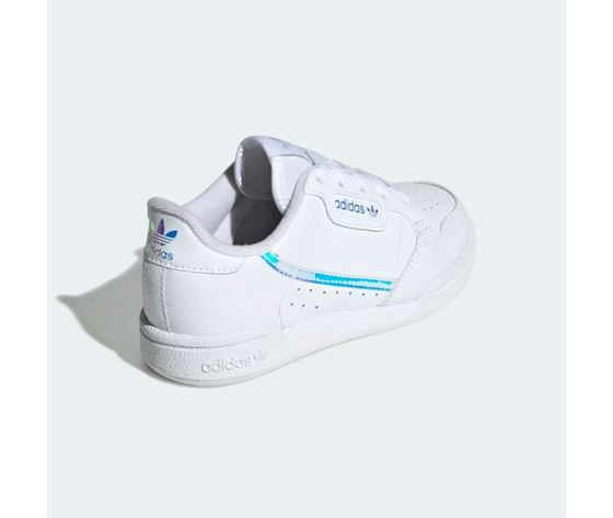 Scarpa adidas continental 80c bianco olografico bimbo art %281%29