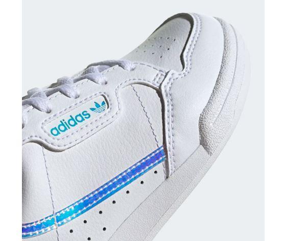 Scarpa adidas continental 80c bianco olografico bimbo art %282%29